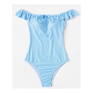 Other - Striped Ruffle Swimwear